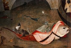 Hieronymus Bosch (Jeroen van Aken, ca 1450-1516), Temptations of St. Anthony, central panel (detail).