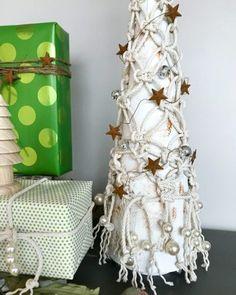macrame tabletop christmas tree