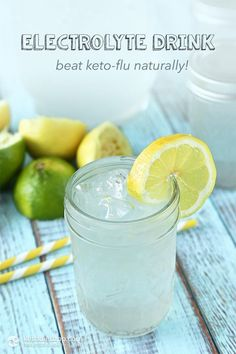 "Homemade Electrolyte Drink (low-carb, keto, paleo) – counter ""Keto Flu"" Source by cheryllynusa Low Carb Drinks, Healthy Drinks, Healthy Eats, Keto Diet Plan, Low Carb Diet, Atkins Diet, Diet Plans, Low Carb Flu, Atkins Bars"