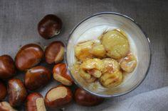 crema di mele e castagne caramellate