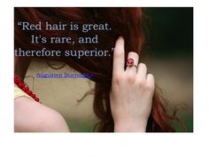 Redhead Quote ~ created by Joannie for blog.