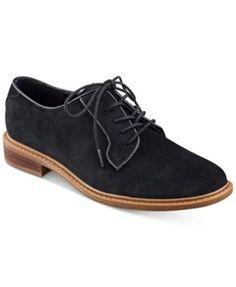 364f255b249c Tommy Hilfiger Jayar Lace-Up Oxford Flats Shoes - Flats - Macy s