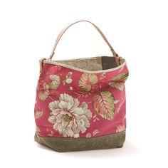Saco grande Framboesa Bucket bag Canvas bag by AWAYOFLIFEhandmade