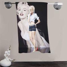 New Custom Marilyn Monroe Shower Towel Big Size 140x70cm Cotton Bath Towel For your family FQI905-%wg92