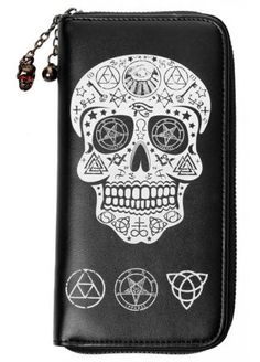 BANNED APPAREL OCCULT SKULL WALLET
