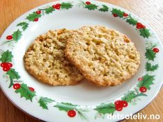Finnish Cuisine, Norwegian Christmas, Norwegian Food, Cake Cookies, Baked Goods, Cookie Recipes, Healthy Snacks, Side Dishes, Food And Drink