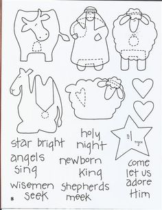 Nativity Cut-out #Patterns for #Kids ~ #Christmas #Xmas #Holiday