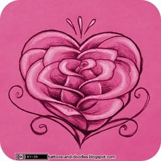 Heart Tattoos | Tattoos and doodles: Rose heart