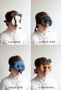 The House That Lars Built.: 2 DIY animals masks