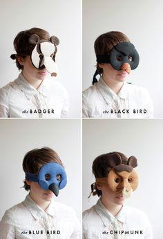 The House That Lars Built.: 2 DIY animals masks