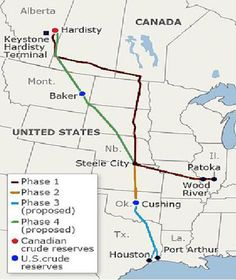 The Gulf Coast Pipeline is the southern leg of the Keystone XL pipeline. It extends from Cushing in Oklahoma to Nederland, Texas. Image courtesy of Meclee. - Image - Hydrocarbons Technology
