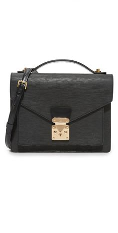 What Goes Around Comes Around Louis Vuitton Black Epi Monceau (Previously Owned) | SHOPBOP