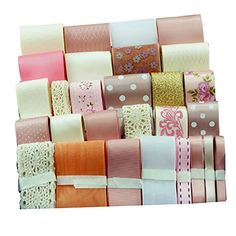 Surker Satin Ribbon Assorted Solid Colors Collection  Hair Ribbon Hair Bows Gift Wrapping DIY Jewelry Making Accessories *** You can find out more details at the link of the image.Note:It is affiliate link to Amazon. #MakeaGift