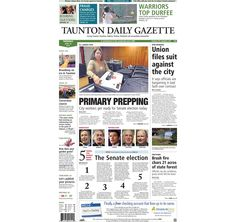 The #frontpage of the Taunton Daily Gazette for Tuesday, April 30, 2013.
