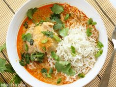 Thai Coconut Curry Braised Chicken Thighs - Budget Bytes