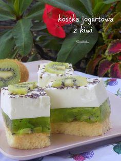 Domowa Cukierenka : kostka jogurtowa z kiwi Kiwi, Ale, Cheesecake, Education, Food, Ale Beer, Cheesecakes, Essen, Meals