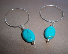 Earrings Jewelry Genuine Turquoise Stone by NalisNativeNotions
