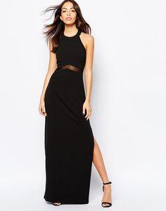 New Look | ASOS - Vestito lungo con inserto velato su ASOS