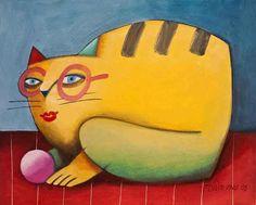 Gato amarelo de óculos  - Gustavo Rosa