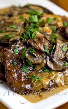 Slow Cooker Swiss Steak | bakeatmidnite.com | #SlowCooker #CrockPot #SwissSteakRecipe