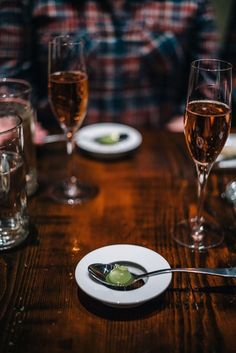 Chef's tasting menu with celery and apple bites as an Amuse Bouche Restaurant Trokay in Truckee, Tahoe, California with The Taste SF #tahoe #travel #california #restaurant #food #wine