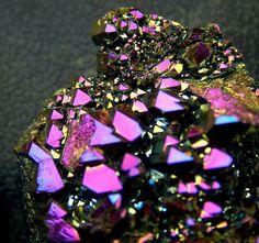 a titanium wash over quartz crystal