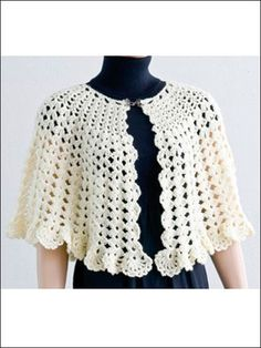 Crochet - Accessory Patterns - Poncho, Shrug & Wrap Patterns - Easy Stitch Cape and Capelet