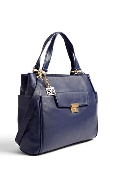 Navy Large Work Tote by DKNY