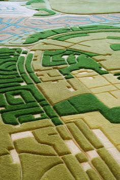 Florian Pucher Turns Aerial Photos into... Landcarpets