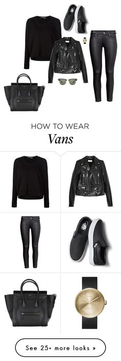 """""""Sin título #220"""" by dani-93 on Polyvore featuring T By Alexander Wang, Yves Saint Laurent, H&M, Vans, LEFF Amsterdam and Ray-Ban"""