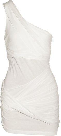 Love this Line! Asymmetric Silk-paneled Dress
