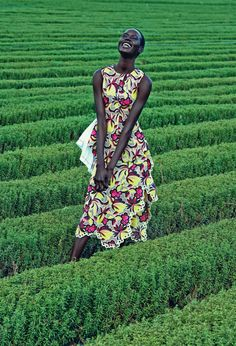 Vibrant dress (Ajak Deng by Julia Noni for Neiman Marcus March 2015)