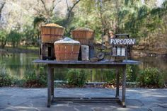 Popcorn Bar - In bushel baskets