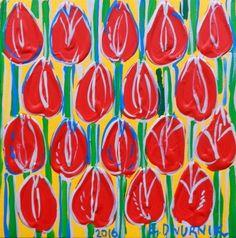 ArtGalery ° PERSONALART.PL tytuł/title: Red tulips author: Edward Dwurnik  https://www.personalart.pl/edward-dwurnik/czerwone-tulipany