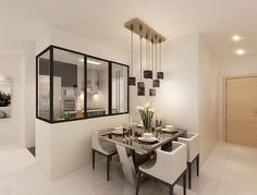 Modern HDB Interior Design, Dining Area & Kitchen