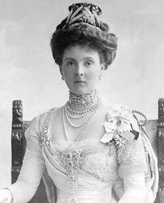 Princess Alice of Teck (later Countess of Althone), 1911.  A Lady of the Royal Order of Victoria and Albert and member of the Royal Family Orders of Edward VII, George V, George VI and Elizabeth II