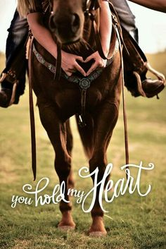 I hold the reins but you hold my heart