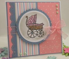 handmade cards for baby | They are basically the same per set, just adapted for…