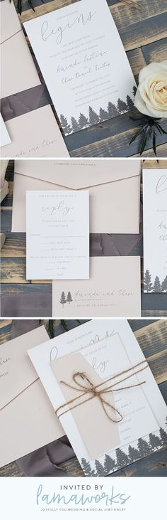 Your wedding is rustic, natural and elegant. You have mountain views and evergreen trees for miles. Set the tone for your wedding with this organic yet sophisticated wedding invitation design Customize this design to make it uniquely you at www. Sophisticated Wedding, Trendy Wedding, Unique Weddings, Elegant Wedding, Wedding Styles, Wedding Ideas, Gold Weddings, Rustic Weddings, Burgundy Wedding
