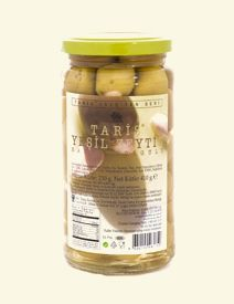 A terrific taste combination which offers the delightful flavors of almond and classic green olives from the Aegean Region. Perfect in traditional Mediterranean dishes such as grilled fish, salads, stews, meat... or as a garnish on cold plates of meats, cheese and other appetizers.
