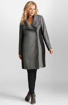 Mynt 1792 Colorblock Moto Coat (Plus Size) available at #Nordstrom