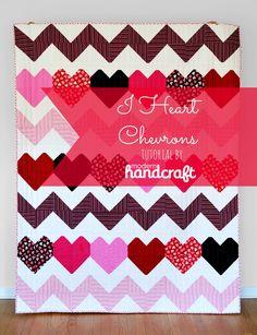 chevron an love quilt tutorial!