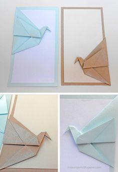 mas origami: Estampas con paloma en el lateral