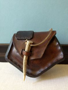 Handmade Leather Hip Bag // Belt Pouch by JansVintageStuff on Etsy
