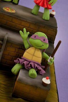little girls ninja turtle dresses | This Girly Teenage Mutant Ninja Turtles Cake Rocks