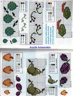 Anaide Ponto Cruz: Lindos gráficos mini de frutas em ponto cruz!!!!!!segunda parte!!!!!! Butterfly Cross Stitch, Leh, Cross Stitch Patterns, Kids Rugs, Holiday Decor, Rose, Mini, Ideas Para, Kitchen