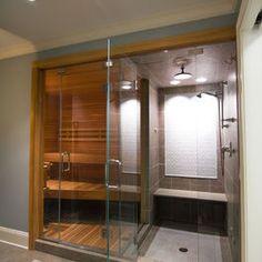 Sauna and shower combo