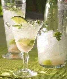 RECIPE: Lime & Lychee Cocktail