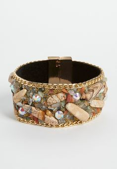 magnetic bracelet with stones and beading (original price, $18.00) available at #Maurices