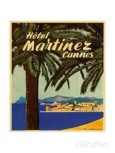 Hotel Martinez, Cannes: Luggage Label